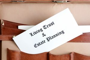 Estate Planning Documents In A Leather Briefcase